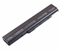 Батарея Asus A40 A42 A52 A62 B53 F85 K42 K52 K62 10.8V 4400mAh, черная (K52 )