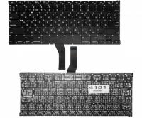 "Клавиатура Apple MacBook Air 13"" A1369 A1466, черная без рамки, Прямой Enter"