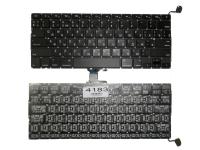 """Клавиатура Apple MacBook Pro 13"""" A1278, черная без рамки, Прямой Enter"""