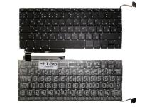 """Клавиатура Apple MacBook Pro 13"""" A1286, черная без рамки, Г-образный Enter"""