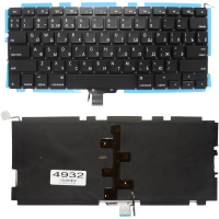 """Клавиатура Apple MacBook Pro 13"""" A1278, черная без рамки, Прямой Enter, подсветка"""