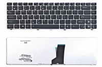 Клавиатура Asus UL30 UL30A UL30VT UL80 A42 A42J K42 K42D K42J K43 N82 X42, черная/серебро, Оригинал (04GNWT1KRU00 )