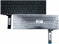 Клавиатура Asus N56 N56V N76 N76V N550 N750 Q550 R501 R750, черная без рамки, Прямой Enter, Оригинал (9Z.N8BSU.101 )