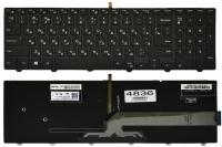 Клавиатура Dell Inspiron 15-3541 3542 3543 5521 5542 5545 5547 5548, черная, подсветка, Оригинал (0G7P48 )