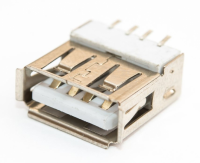 Разъем USB 2.0 single (13х5х14мм) curved (J007 )