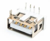 Разъем USB 2.0 A02/S single (13х5х10мм)in board slit