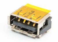 Разъем USB 2.0 UA-002-04/2 single (13х5х10мм) curved