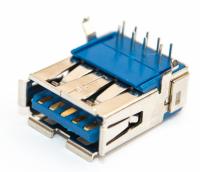 Разъем USB 3.0 single (13х7х17мм) curved 9pin  (J003 )