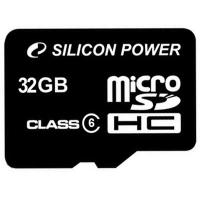 Карта памяти Silicon Power 32Gb microSDHC class 6 (SP032GBSTH006V10)