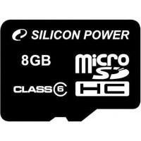 Карта памяти Silicon Power 8Gb microSDHC class 6 (SP008GBSTH006V10)