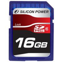 Карта памяти Silicon Power 16Gb SDHC class 6 (SP016GBSDH006V10)