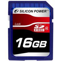 Карта памяти Silicon Power 16Gb SDHC class 4 (SP016GBSDH004V10)