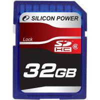 Карта памяти Silicon Power 32Gb SDHC class 6 (SP032GBSDH006V10)