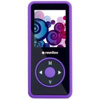 mp3 плеер Reellex UP-48 4GB Black/Violet (UP-48 Black/Violet)