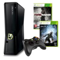 Игровая консоль Microsoft X-Box SLIM + HALO 4 + TOMB RAIDER (XBOX360S250HALO4TR)