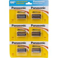 Батарейка PANASONIC LR06 Alkaline Power * 12(плакат2*6) (LR6REB/2B12R)