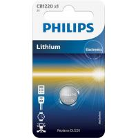 Батарейка PHILIPS CR1220 PHILIPS Lithium (CR1220/00B)