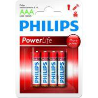 Батарейка PHILIPS LR03 PHILIPS PowerLife P4B * 4 (LR03P4B/97)