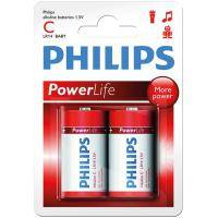 Батарейка PHILIPS LR14 PHILIPS PowerLife P2B * 2 (LR14P2B/97)