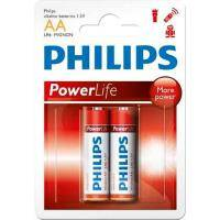 Батарейка PHILIPS LR06 PHILIPS PowerLife P2B * 2 (LR6P2B/97)