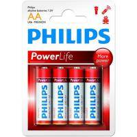 Батарейка PHILIPS LR06 PHILIPS PowerLife P4B * 4 (LR6P4B/97)