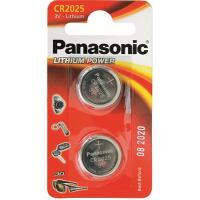 Батарейка PANASONIC CR 2025 * 2 LITHIUM (CR-2025EL/2B)