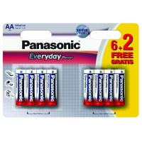 Батарейка PANASONIC AA EVERYDAY POWER * 8 (LR6REE/8B2F)