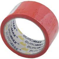 Скотч BUROMAX Packing tape 48мм x 35м х 43мкм, red (BM.7007-05)