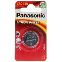 Батарейка PANASONIC CR 2430 * 1 LITHIUM (CR-2430EL/1B)