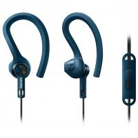 Наушники PHILIPS SHQ1405 ActionFit Mic Blue (SHQ1405BL/00)
