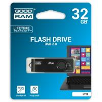 USB флеш накопитель GOODRAM 32GB Twister Clip Black USB 2.0 (UTS2-0320KKR11)