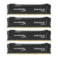 Модуль памяти для компьютера DDR4 64GB (4x16GB) 2666 MHz HyperX Savage BLACK Kingston (HX426C15SBK4/64)