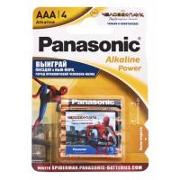Батарейка PANASONIC LR03 Alkaline Power Spider Man * 4 (LR03REB/4BPSSM)