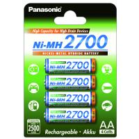 Аккумулятор PANASONIC High Capacity AA 2700 mAh * 4 (BK-3HGAE/4BE)