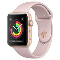 Смарт-часы Apple Series 3 GPS, 42mm Gold Aluminium Case with Pink Band (MQL22FS/A)