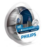 Автолампа PHILIPS H1 Diamond Vision, 5000K, 2шт (12258DVS2)