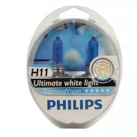 Автолампа PHILIPS H11 Diamond Vision, 5000K, 2шт (12362DVS2)