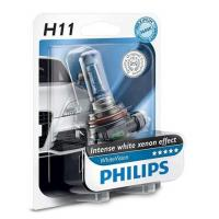 Автолампа PHILIPS H11 WhiteVision +60%, 3700K, 1шт (12362WHVB1)