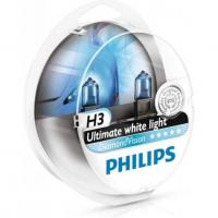 Автолампа PHILIPS H3 Diamond Vision 5000K, 2шт/блистер (12336DVS2)