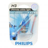 Автолампа PHILIPS H3 Diamond Vision, 5000K, 1шт (12336DVB1)