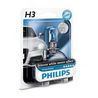Автолампа PHILIPS H3 WhiteVision +60%, 3700K, 1шт (12336WHVB1)