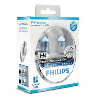Автолампа PHILIPS H4 WhiteVision +60%, 3700K, 2шт (12342WHVSM)