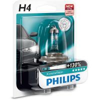 Автолампа PHILIPS H4 X-treme VISION +130%, 1шт (12342XV+B1)