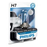 Автолампа PHILIPS H7 WhiteVision +60%, 3700K, 1шт (12972WHVB1)