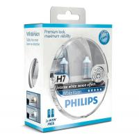 Автолампа PHILIPS H7 WhiteVision +60%, 3700K, 2шт (12972WHVSM)