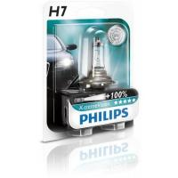 Автолампа PHILIPS H7 X-treme VISION +130%, 3700K, 1шт (12972XV+B1)