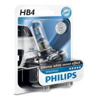 Автолампа PHILIPS HB4 WhiteVision +60%, 3700K, 1шт (9006WHVB1)