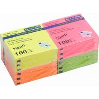 Бумага для заметок BUROMAX with adhesive layer 76х76мм, 12*100sheets, NEON colors (BM.2312-98)