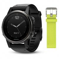 Смарт-часы Garmin Fenix 5s Sapphire Black with Black & Yellow Silicone Bands (010-01685-11)