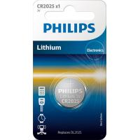 Батарейка PHILIPS CR2025 Lithium * 1 (CR2025/01B)